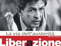 ARTICOLO DI BERLINGUER SU AUSTERITA'