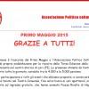 PRIMO MAGGIO 2015: GRAZIE A TUTTI!