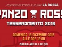 PRANZO ROSSO   13.12.2015    Tesseramento 2016 Ass.ne LA ROSSA
