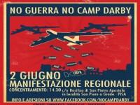 2 GIUGNO: NO GUERRA NO CAMP DARBY, MANIFESTAZIONE REGIONALE