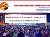 PRIMO MAGGIO 2019: GRAZIE A TUTTE E TUTTI!