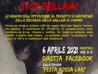 STOP GRILLAIA! DIRETTA FACEBOOK CONTRO LA RIAPERTURA DELLA DISCARICA DI CHIANNI