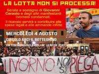 """""""LA LOTTA NON SI PROCESSA!"""" CENA A SOSTEGNO DEI MANIFESTANTI LIVORNESI"""