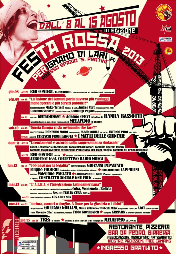 Manifesto Festa Rossa 2013